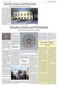 Zwischen Mystik und Wirklichkeit -Historie und Gegenwart der Freimaurerlogen-
